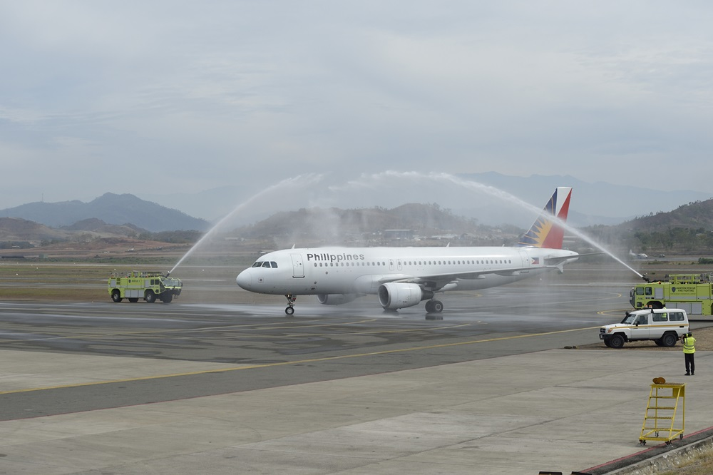 In Philippine Air Grille : Port moresby welcomes philippine airlines