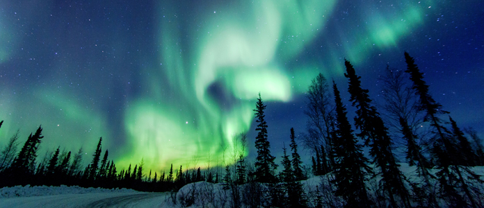 This is a photo of the northern lights in Canada.